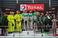 #33 RINALDI RACING (DEU) FERRARI 488 GT3 AM CUP CHRISTIAN HOOK (DEU) MANUEL LAUCK (DEU) ALEXANDER MATTSCHULL (DEU) HENDRIK STILL (DEU) AM CUP WINNER TOTAL 24H OF SPA<br /> #77 BARWELL MOTORSPORT (GBR) LAMBORGHINI HURACAN GT3 2019 AM CUP ADRIAN AMSTUTZ (CHE) LEO MATCHISKI (RUS) LEO MATCHISKI (RUS) RICHARD ABRA (GBR) AM CUP SECOND <br /> #29 RATON RACING BY TARGET (ITA) LAMBORGHINI HURACAN GT3 2019 AM CUP STEFANO COSTANTINI (ITA) ANTONIO FORNE TOMAS (ESP) CHRISTOPH LENZ (CHE) ALBERTO DI FOLCO (ITA) AM CUP THIRD