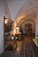 Europe/Italie/Trentin Haut-Adige/Dolomites/Alta Badia/ La Villa:  Ciastel Colz dans ce Château se trouve un restaurant