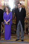 Prime Minister of Spain Mariano Rajoy and Elvira Fernandez attends the reception of the diplomatic corps in Spain at Palacio Real. January 23, 2013. (ALTERPHOTOS/Caro Marin)
