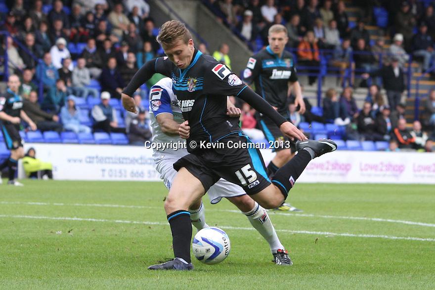 Luke Freeman of Stevenage shoots wide<br />  - Tranmere Rovers v Stevenage - Sky Bet League One - Prenton Park, Birkenhead - 7th September 2013. <br /> © Kevin Coleman 2013