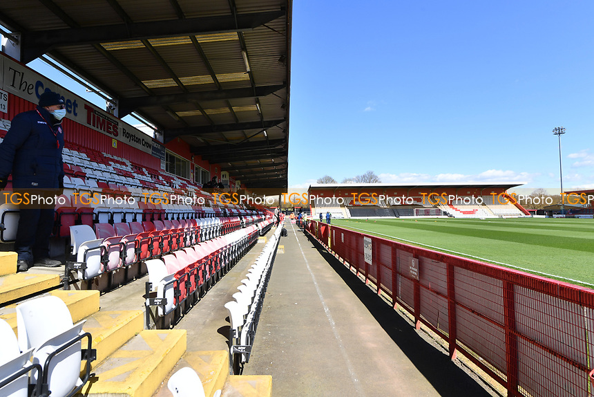 General view of the Lamex Stadium during Stevenage vs Bradford City, Sky Bet EFL League 2 Football at the Lamex Stadium on 5th April 2021