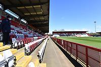 General view of the Lamex Stadium during Stevenage vs Bradford City, Sky Bet EFL League 2 Football at the Lamex Stadium on 5th April 2021