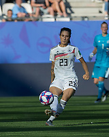 GRENOBLE, FRANCE - JUNE 22: Sara Doorsoun #23 passes the ball during a game between Nigeria and Germany at Stade des Alpes on June 22, 2019 in Grenoble, France.