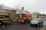 during a fire in Mell, Drogheda on the 29th March 2015.<br /> Picture:  Thos Caffrey / www.newsfile.ie