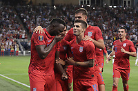 KANSAS CITY, KANSAS - JUNE 26: Jozy Altidore #17 during a 2019 CONCACAF Gold Cup group D match between the United States and Panama at Children's Mercy Park on June 26, 2019 in Kansas City, Kansas.
