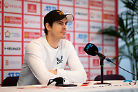 22nd February 2021, Montpellier, France; Andy Murray at a press conference after a personal photoshoot at the  The Open Sud de France Tennis tournament in Montpellier
