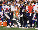 Baltimore Ravens Derrick Alexander (82) during a game from his 1996 season with the Baltimore Ravens. Derrick Alexander played for 9 season with 4 different teams.