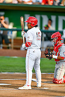 Pioneer League All-Star Jahmai Jones (15) of the Orem Owlz at bat against the Northwest League All-Stars at the 2nd Annual Northwest League-Pioneer League All-Star Game at Lindquist Field on August 2, 2016 in Ogden, Utah. The Northwest League defeated the Pioneer League 11-5. (Stephen Smith/Four Seam Images)