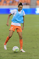 Houston, TX - Sunday Sept. 25, 2016: Poliana Barbosa prior to a regular season National Women's Soccer League (NWSL) match between the Houston Dash and the Seattle Reign FC at BBVA Compass Stadium.
