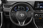 Car pictures of steering wheel view of a 2021 Toyota RAV4-Prime SE 5 Door SUV Steering Wheel