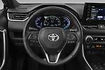 Car pictures of steering wheel view of a 2021 Toyota RAV4-Prime SE 5 Door SUV Steering Wheel