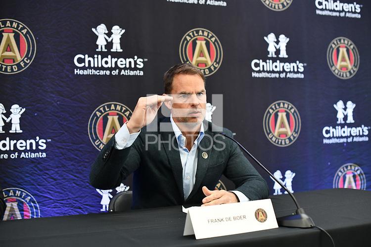 Atlanta, Georgia - Monday, January 14, 2019. Atlanta United introduced new manager Frank de Boer to the media at the team's Children's Healthcare Training Center.