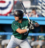 Jamestown Jammers outfielder Brent Keys #21 during a game against the Batavia Muckdogs at Dwyer Stadium on June 27, 2011 in Batavia, New York.  Batavia defeated Jamestown 4-3.  (Mike Janes/Four Seam Images)