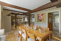 BNPS.co.uk (01202) 558833. <br /> Pic: Savills/BNPS<br /> <br /> Pictured: Breakfast room. <br /> <br /> A wheely rare opportunity...<br /> <br /> A grand country manor with a 300-year-old donkey wheel is on the market for £4.95m.<br /> <br /> The donkey wheel at Annables Manor, one of only two still in existence in England, was built in the 17th century and used to draw water from the 145ft well.<br /> <br /> The Grade II listed manor house near Harpenden, Herts, is one of the finest country houses in the area and as well as its unusual historic feature it has a heated swimming pool and tennis court in its 5.34 acres of land.<br /> <br /> The seven-bedroom home has lots of impressive features including oak beams, open fireplaces and solid oak floors.