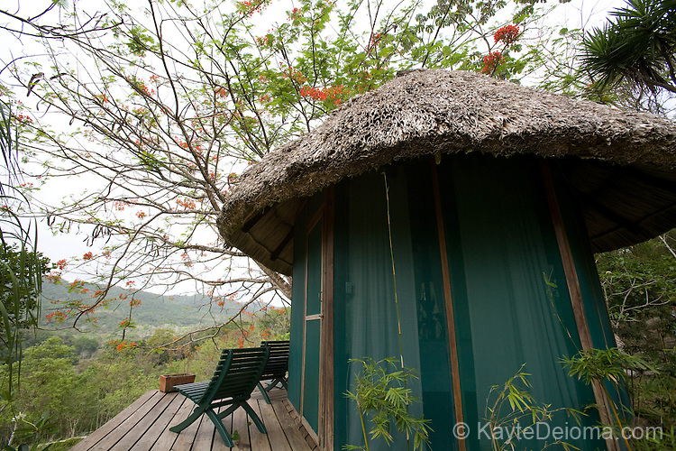 The Spa at Chaa Creek, Cayo District overlooks the jungle, Belize