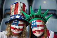 Glasgow, Scotland - Saturday, July 28, 2012:   of the USA Women's soccer team 3-0 over Colombia in the first round of the Olympic football tournament at Hamden Park.