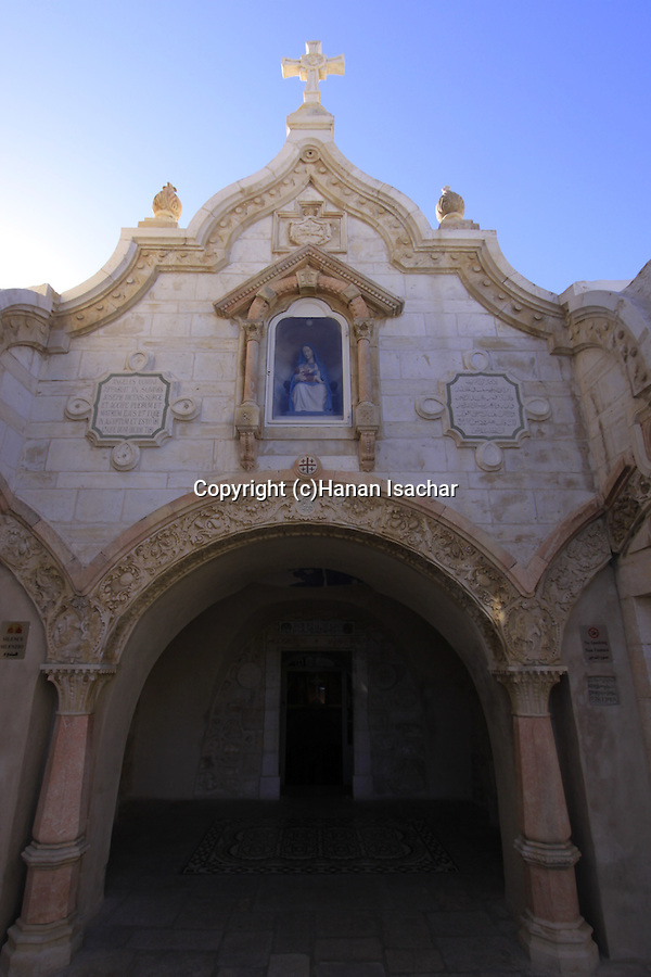 Bethlehem, the Franciscan Church was built in 1871 over the Milk Grotto