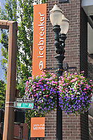 Icebreaker sign and store in Pearl District in Portland Oregon