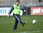 Clare manager Colm Collins before their National League game against Roscommon at Cusack Park. Photograph by John Kelly.