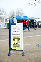 Signage announcing the Jack Wills Official After Party during the 131st Varsity Match between Oxford University and Cambridge University at Twickenham on Thursday 06 December 2012 (Photo by Rob Munro)