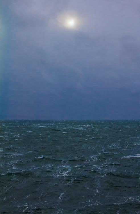 Winter storm, rough seas, Admiralty Inlet, Puget Sound, Washington State, Salish Sea, Pacific Northwest, USA,