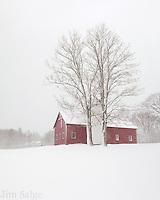 Deerfield Barn in the Snow