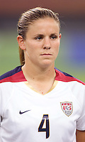 Cat Whitehill. The USA defeated England, 3-0 during the quarterfinals of the FIFA Women's World Cup in Tianjin, China.  The USA defeated England, 3-0.