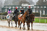 February 28, 2021: Tiddly #7 , ridden by Luis S. Quinonez in the Downthedustyroad Breeders Stakes for trainer Ernie Witt II at Oaklawn Park in Hot Springs,  Arkansas.  Ted McClenning/Eclipse Sportswire/CSM