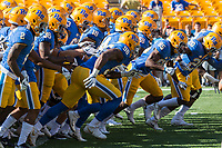 The Pitt Panthers take the field for warmups. The North Carolina Wolfpack defeated the Pitt Panthers 35-17 at Heinz Field, Pittsburgh, PA on October 14, 2017.