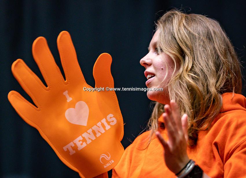 Den Bosch, The Netherlands, Februari 9, 2019,  Maaspoort , FedCup  Netherlands - Canada, second match : Dutch supporters<br /> Photo: Tennisimages/Henk Koster