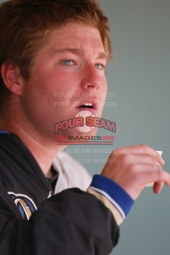 May 30 2007: Steve Marek of the Rancho Cucamonga Quakes during game against the Inland Empire 66'ers at Arrowhead Credit Union Park in San Bernardino,CA.  Photo by Larry Goren/Four Seam Images