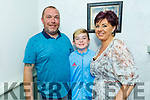 Richie Roche celebrating his 45th birthday in Cassidys on Saturday. L to r: Richie, Cayden and Brenda Roche