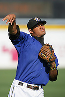 August 9 2009: Carlos Colmenares of the Rancho Cucamonga Quakes before game against the San Jose Giants at The Epicenter in Rancho Cucamonga,CA.  Photo by Larry Goren/Four Seam Images