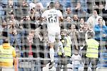 Real Madrid's Danilo Luiz da Silva celebrates goal during La Liga match. December 20,2015. (ALTERPHOTOS/Acero)