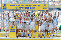 Exeter Chiefs celebrate winning the Premiership Rugby Final at Twickenham Stadium on Saturday 27th May 2017 (Photo by Rob Munro)