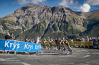 the race leaders in the final kilometer up the Orcières-Merlette finish climb > Sepp Kuss (USA/Jumbo-Visma) leading Primoz Roglic (SVK/Jumbo-Visma) to victory<br /> <br /> Stage 4 from Sisteron to Orcières-Merlette (161km)<br /> <br /> 107th Tour de France 2020 (2.UWT)<br /> (the 'postponed edition' held in september)<br /> <br /> ©kramon