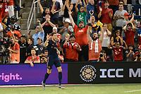 Kansas City, KS,Tuesday July 23 2019.  FC Bayern Munich defeated Milan 1-0 in an International Champions Cup game at Children's Mercy Park. Leon Goretzka scores and celebrates.