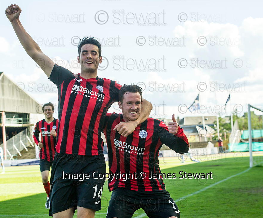 St Johnstone's Danny Swanson (right) celebrates with Brian Graham after he scores their first goal.