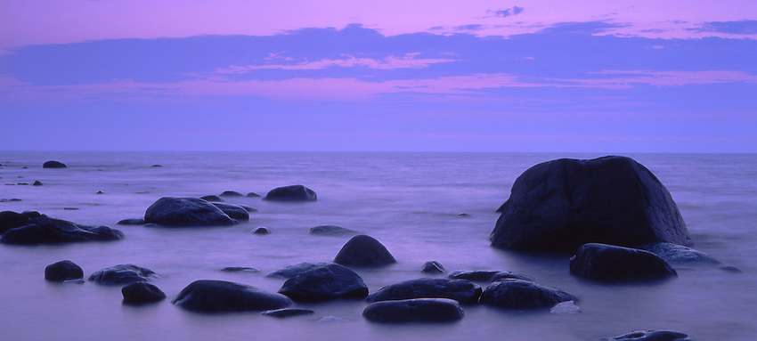 Europe, SWE, Sweden, Oland, Rocky coast, Evening, Rocks, Dusk