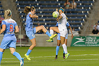 Chicago, IL - Wednesday Sept. 07, 2016: Katie Naughton, Shea Groom during a regular season National Women's Soccer League (NWSL) match between the Chicago Red Stars and FC Kansas City at Toyota Park.
