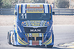 Portuguese driver Eduardo Rodrigues belonging Portuguese team Eduardo Rodrigues during the super pole SP1 of the XXX Spain GP Camion of the FIA European Truck Racing Championship 2016 in Madrid. October 01, 2016. (ALTERPHOTOS/Rodrigo Jimenez)