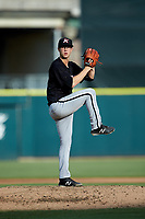 Kannapolis Intimidators starting pitcher Taylor Varnell (29) in action against the Augusta GreenJackets at SRG Park on July 6, 2019 in North Augusta, South Carolina. The Intimidators defeated the GreenJackets 9-5. (Brian Westerholt/Four Seam Images)
