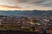 Cusco at sunset, Peru