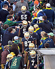 Nov. 17, 2012; Players enter Notre Dame Stadium through the student section for warmups before the game against Wake Forest.