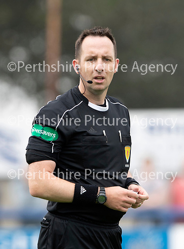 Montrose v St Johnstone…21.07.18…  Links Park    League Cup<br />Referee Barry Cook<br />Picture by Graeme Hart. <br />Copyright Perthshire Picture Agency<br />Tel: 01738 623350  Mobile: 07990 594431