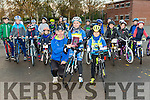 Faith Hilliard and Eoin Hilliard were presented with awards at the Kingdom Cycling Club, bike Handling day at CBS Primary on Sunday by Dick McElligott