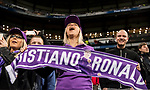 A fan shows her support to Cristiano Ronaldo during their La Liga match between Real Madrid and Real Betis at the Santiago Bernabeu Stadium on 12 March 2017 in Madrid, Spain. Photo by Diego Gonzalez Souto / Power Sport Images