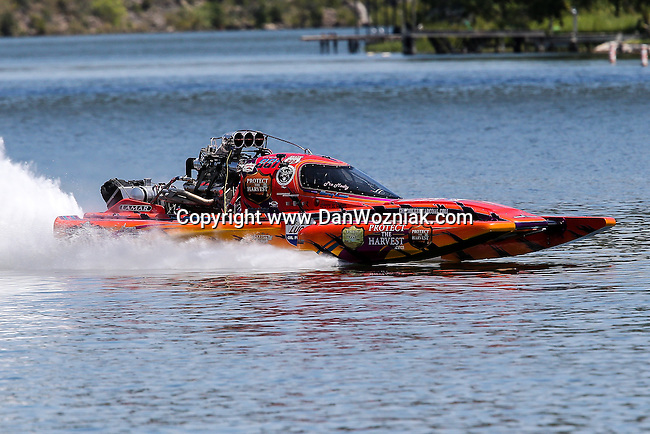 Lucas Oil Drag Boat Racing Series drag boats in action during  the Lakefest drag boat race in Marble Falls, Texas.