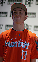 Thomas Blakney (13) of Wenatchee High School in Wenatchee, Washington during the Baseball Factory All-America Pre-Season Tournament, powered by Under Armour, on January 12, 2018 at Sloan Park Complex in Mesa, Arizona.  (Zachary Lucy/Four Seam Images)