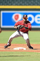 Arizona Diamondbacks second baseman Jamie Westbrook (5) during an Instructional League game against the Oakland Athletics on October 10, 2014 at Chase Field in Phoenix, Arizona.  (Mike Janes/Four Seam Images)
